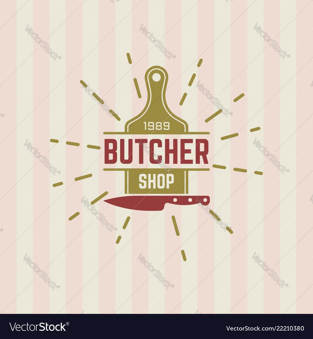 Butcher shop vintage label or badge