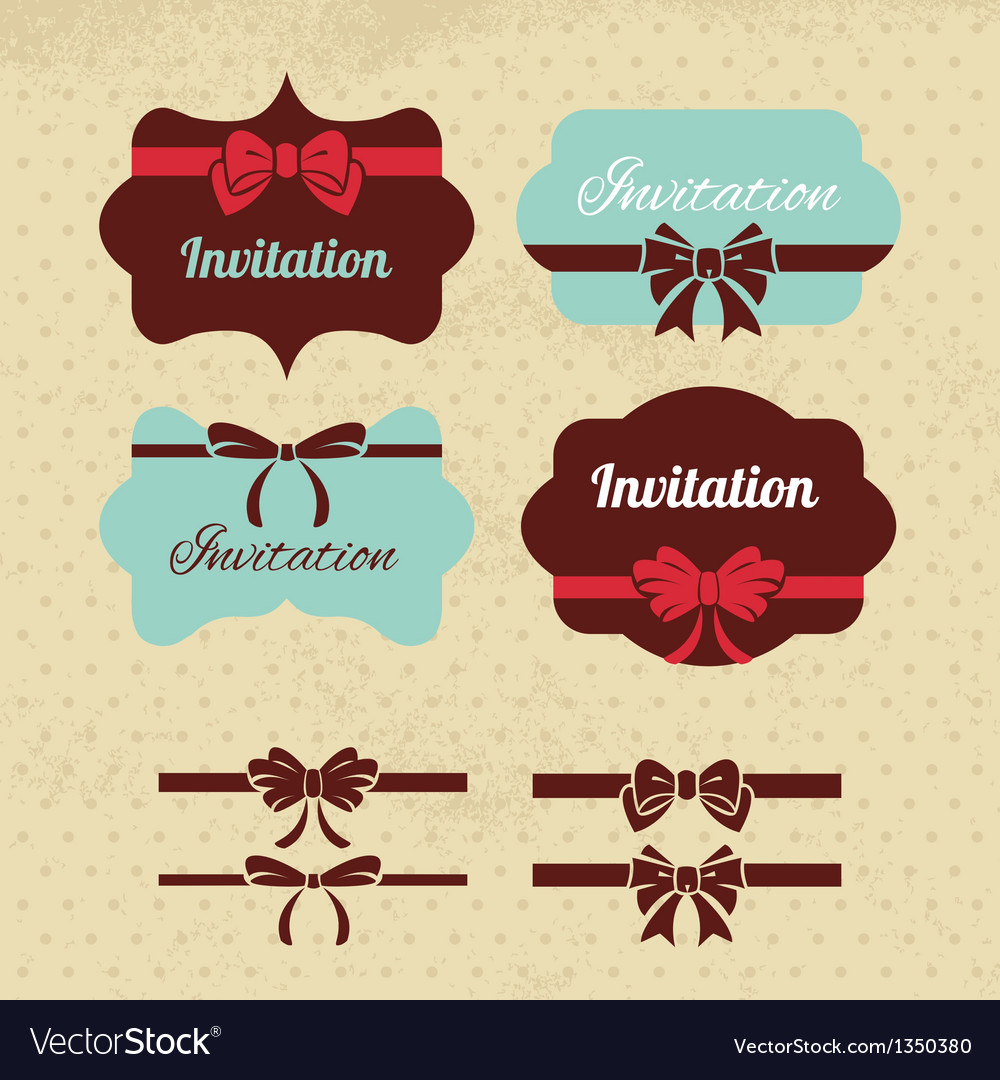 Collection of vintage labels ribbons and bows