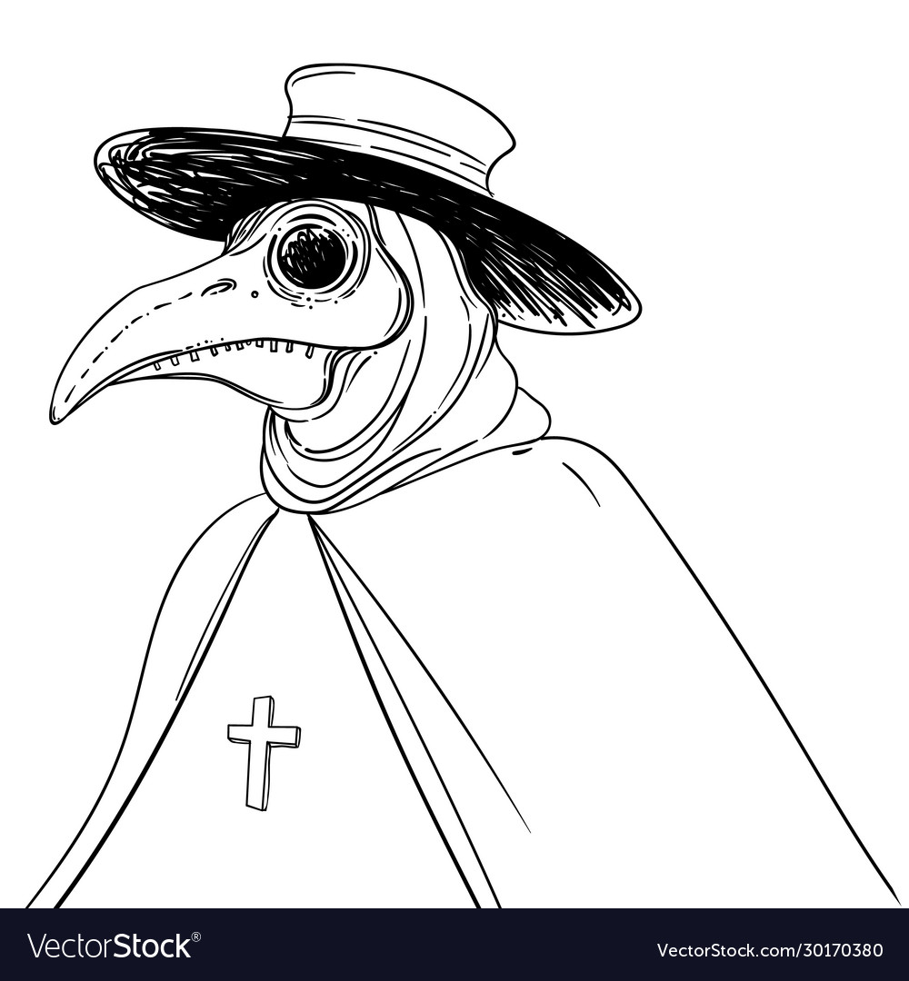 Gothic plague doctor Royalty Free Vector Image