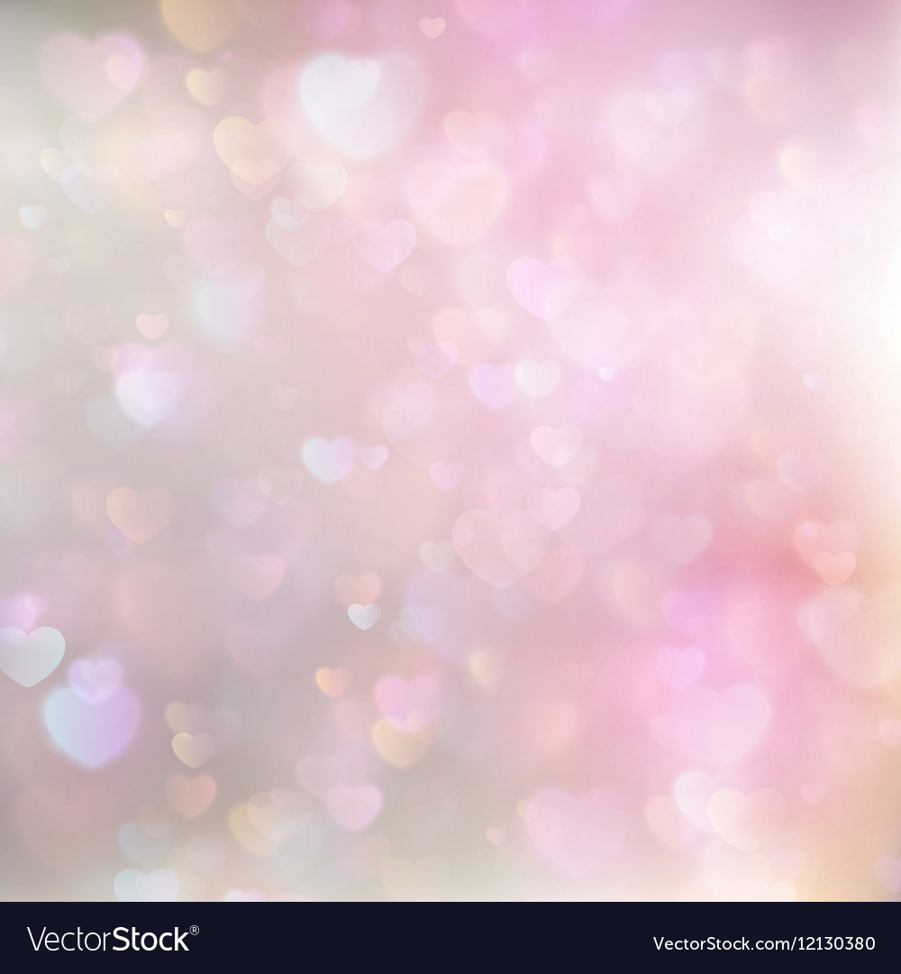 Hearts Abstract Pink Background EPS 10 vector image