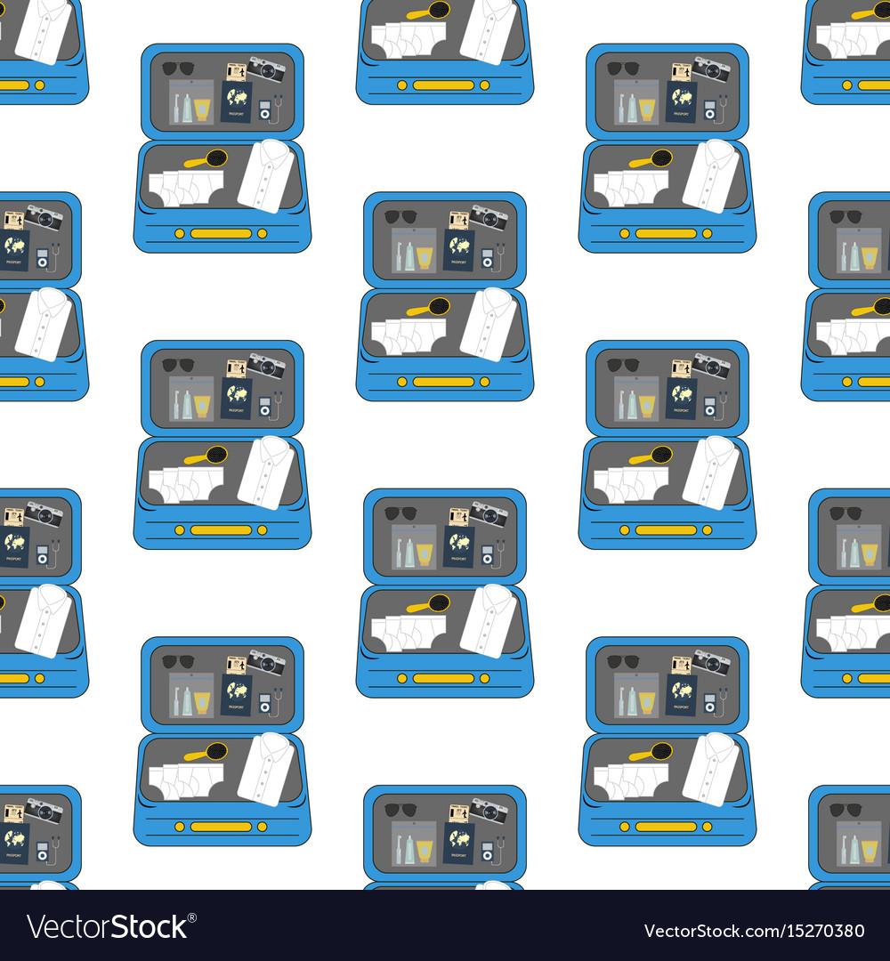 Luggage travel pattern
