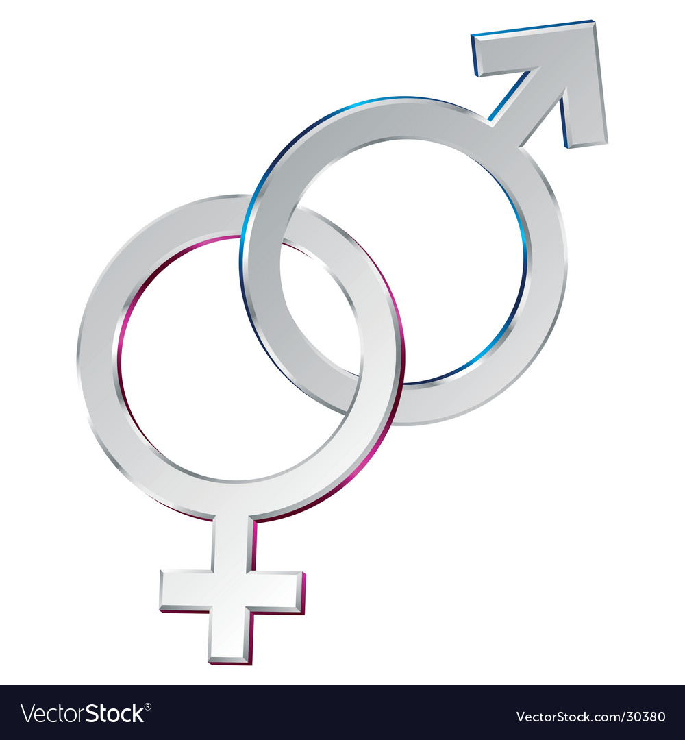 Male And Female Symbols Union Royalty Free Vector Image