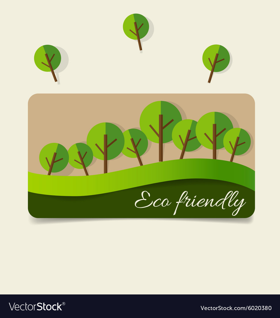 Nature Banner Ecology Concept With Tree Background