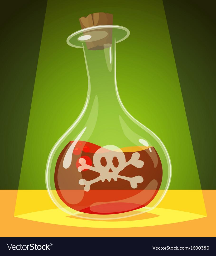 Poisonous potion vector image