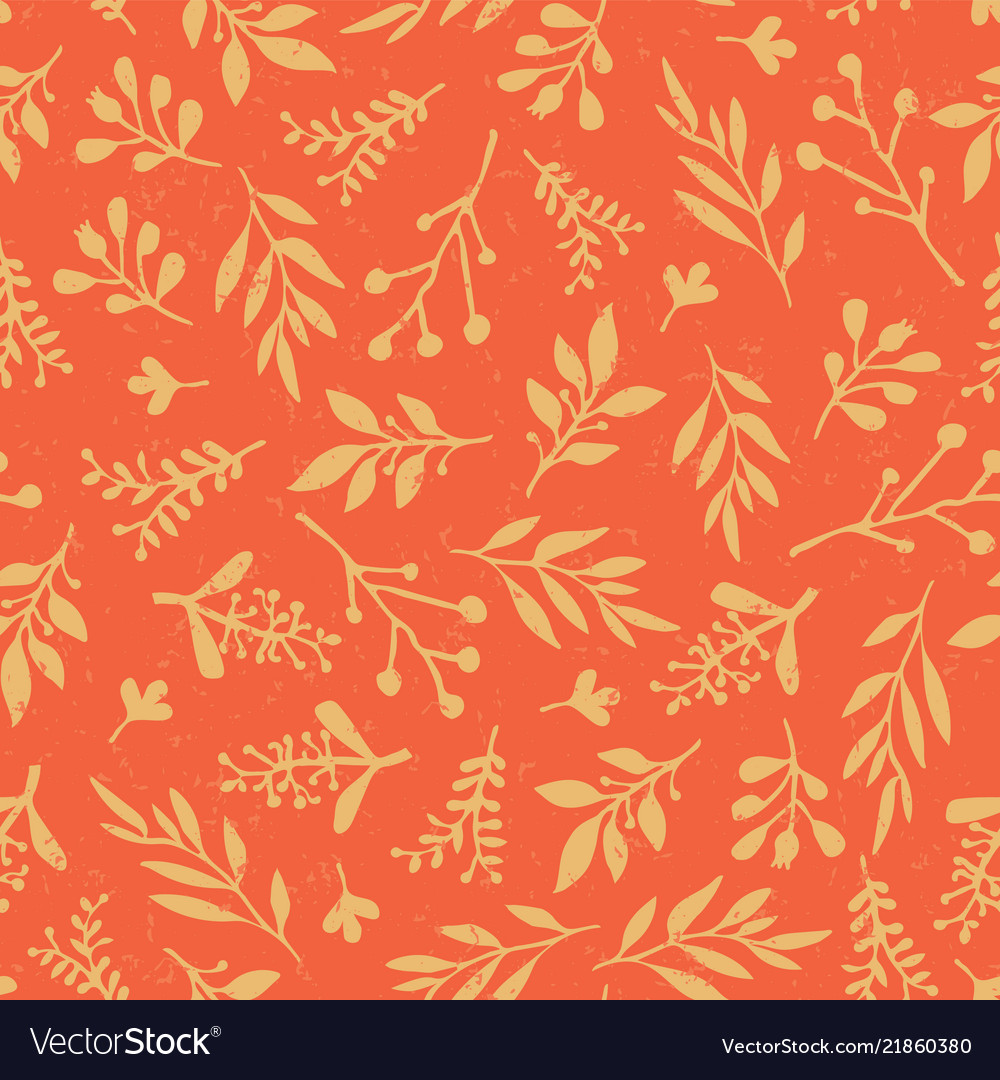Thanksgiving vintage autumn leaves seamless