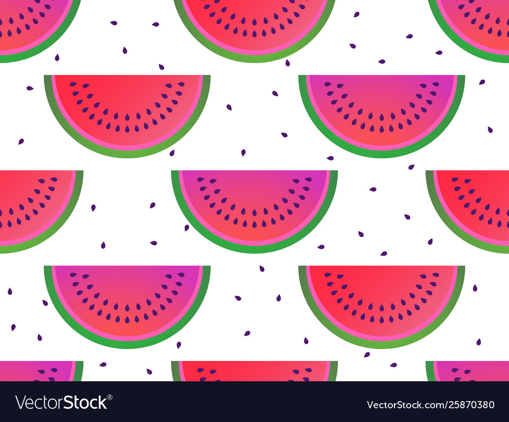 Watermelon slices seamless pattern summer