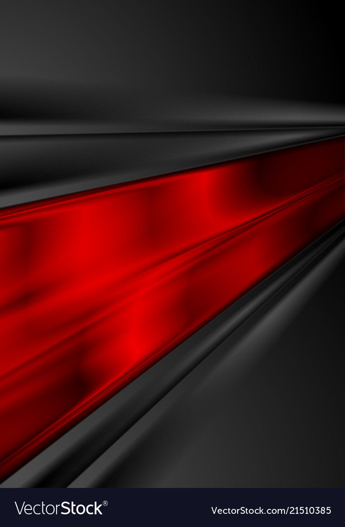 Bright red and black glossy stripes abstract