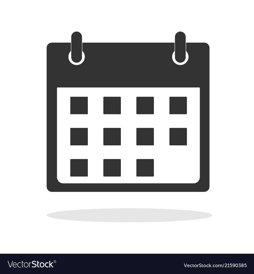 Calendar icon in trendy flat style on white