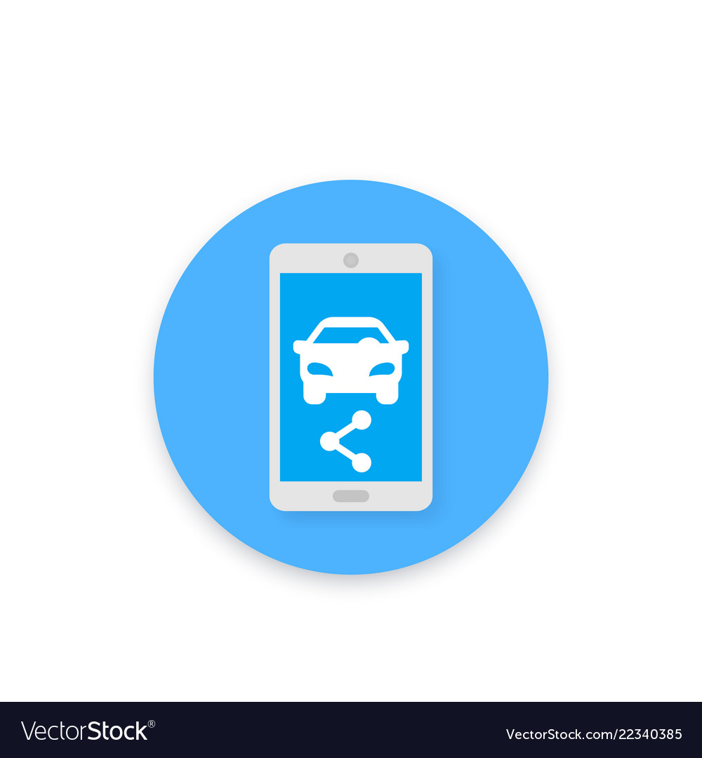 Carsharing icon for apps and web