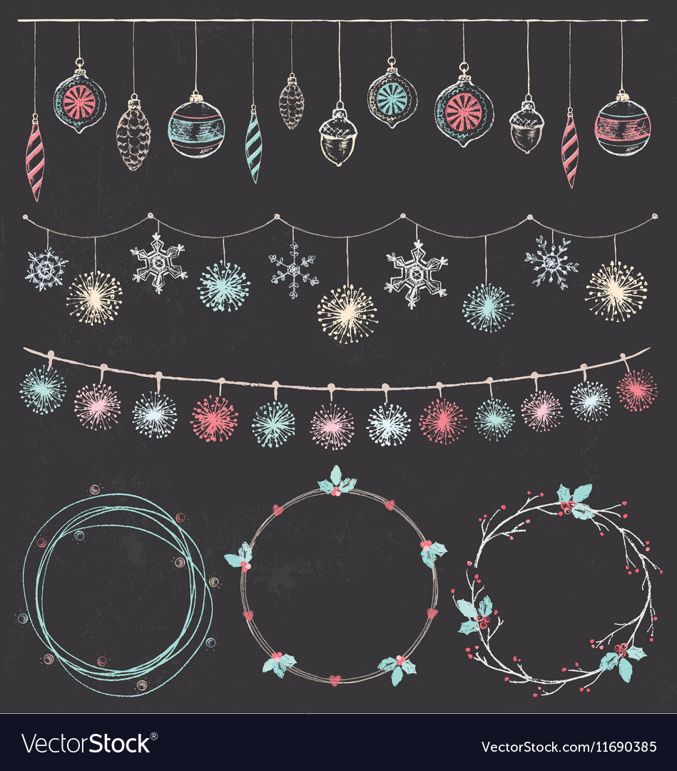 Christmas Garlands and Wreaths Set