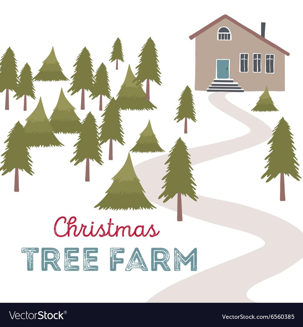 Christmas tree farm Royalty Free Vector Image - VectorStock