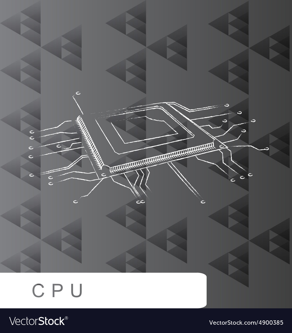 CPU backgroud abstact line brush