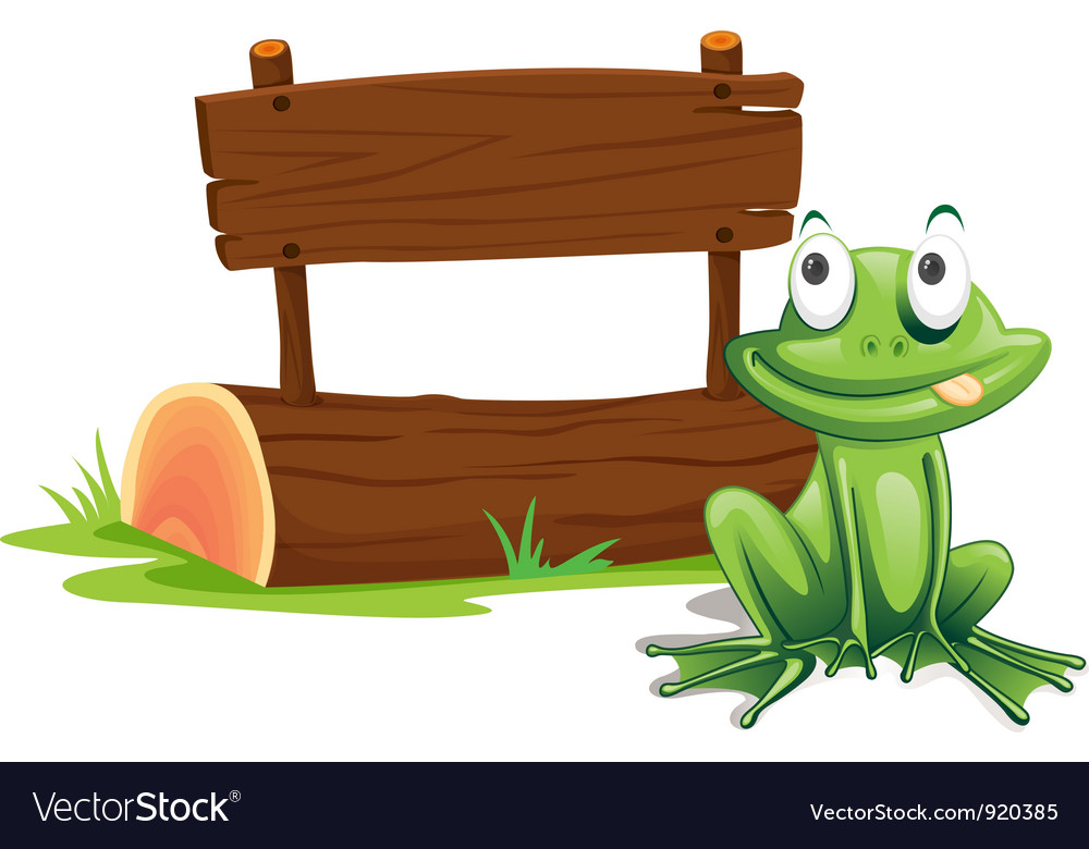 Frog sign vector image
