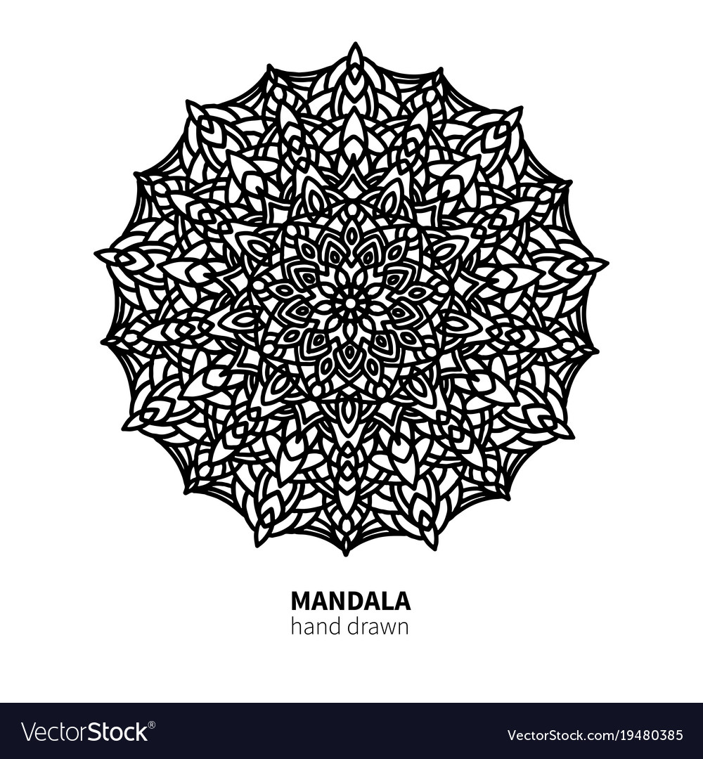 Mandala flower drawing decorative boho