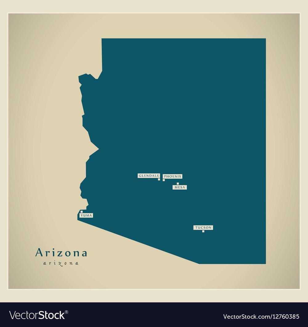 Modern Map USA Arizona Royalty Free Vector Image