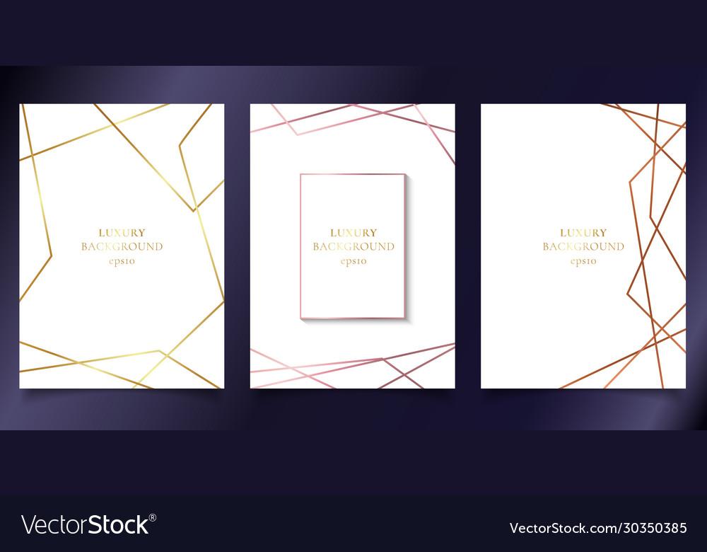 Set template wedding invitation cards