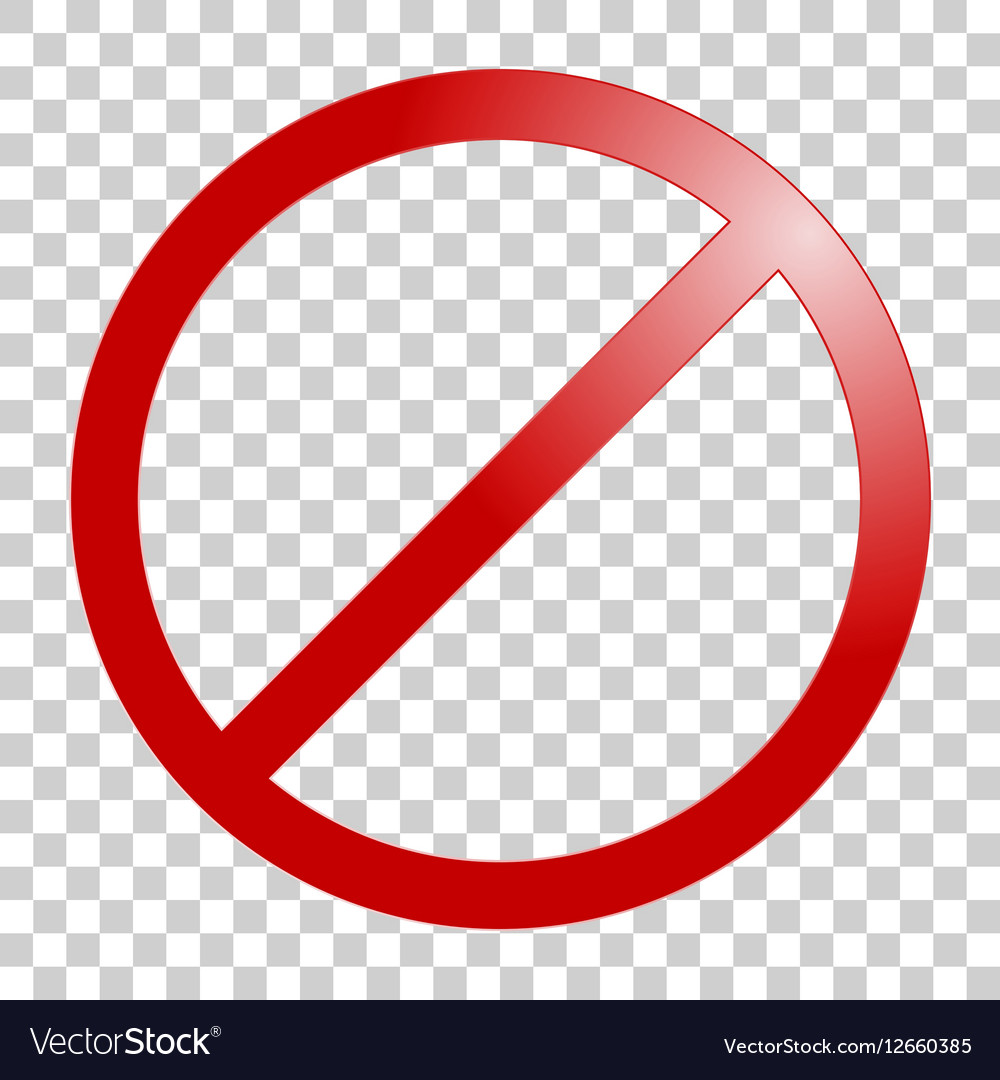 Stop sign No sign template Royalty Free Vector Image