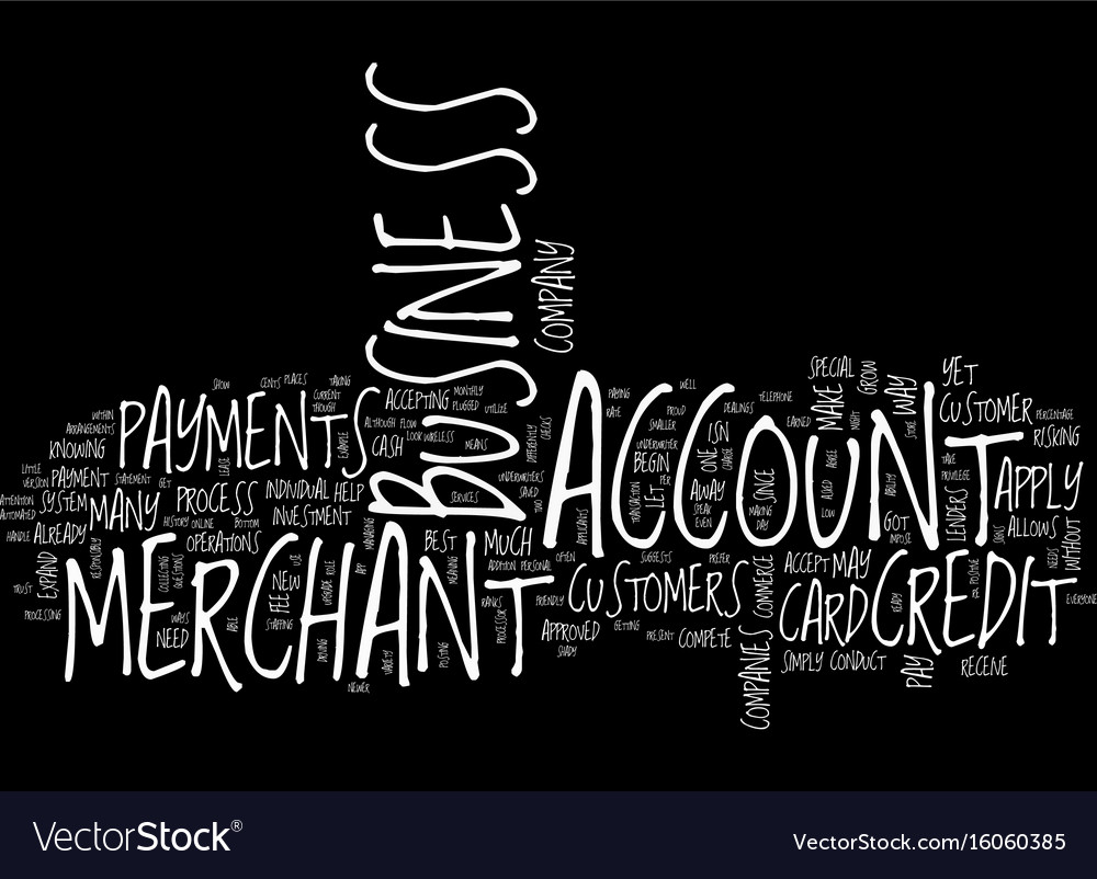 Your business merchant account text background vector image