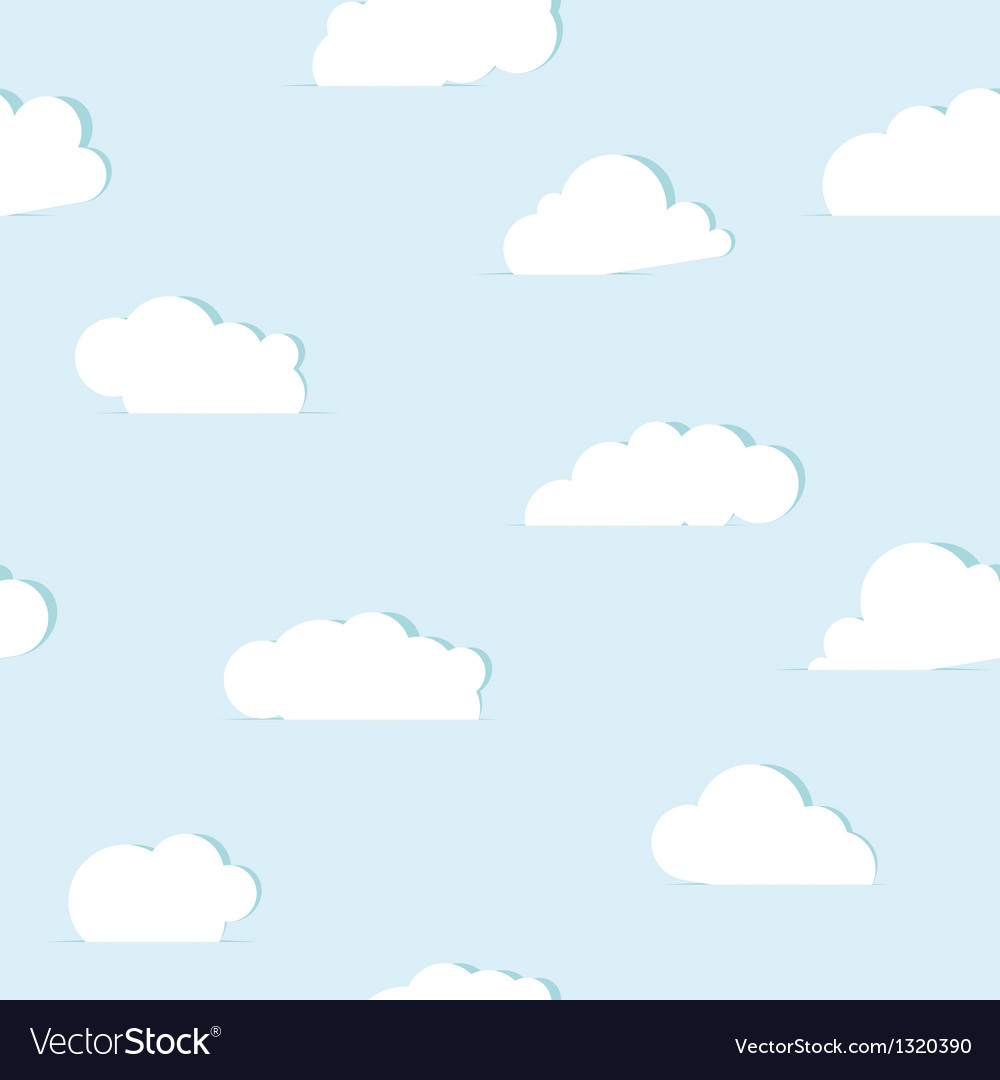 Abstract paper clouds seamless pattern