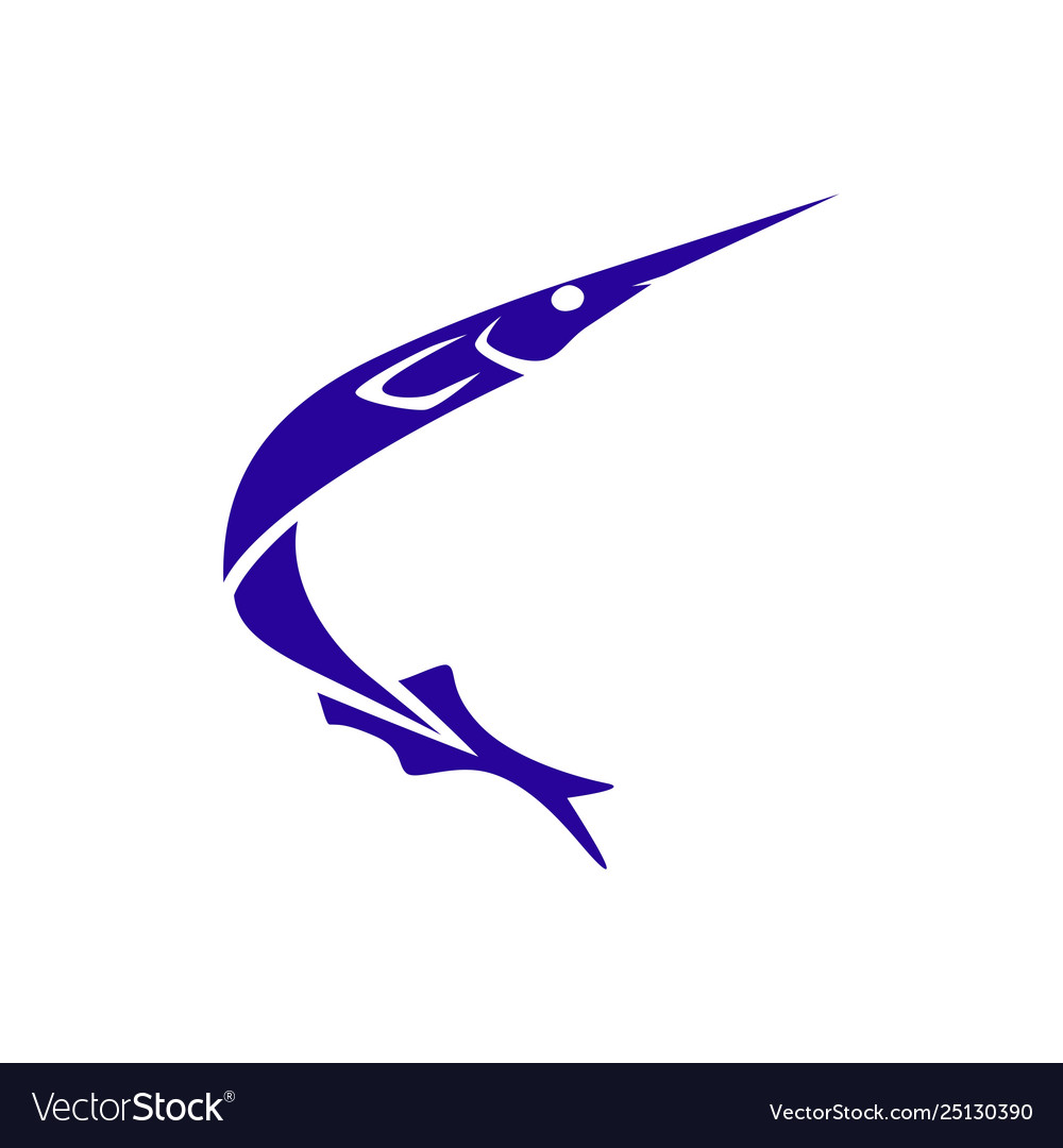 Ballyhoo-fish-icon-logo