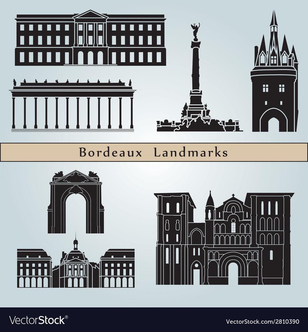 Bordeaux landmarks and monuments
