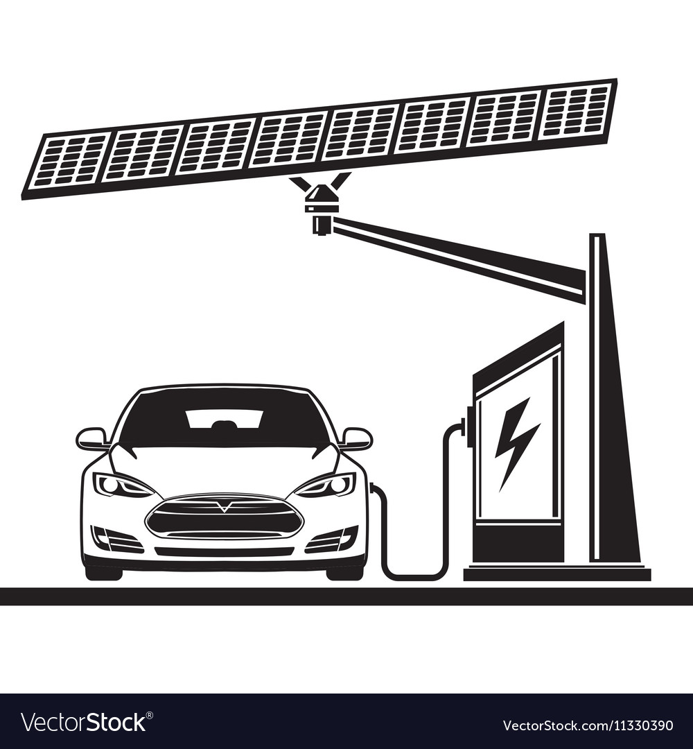 Car solar cell electric filling station