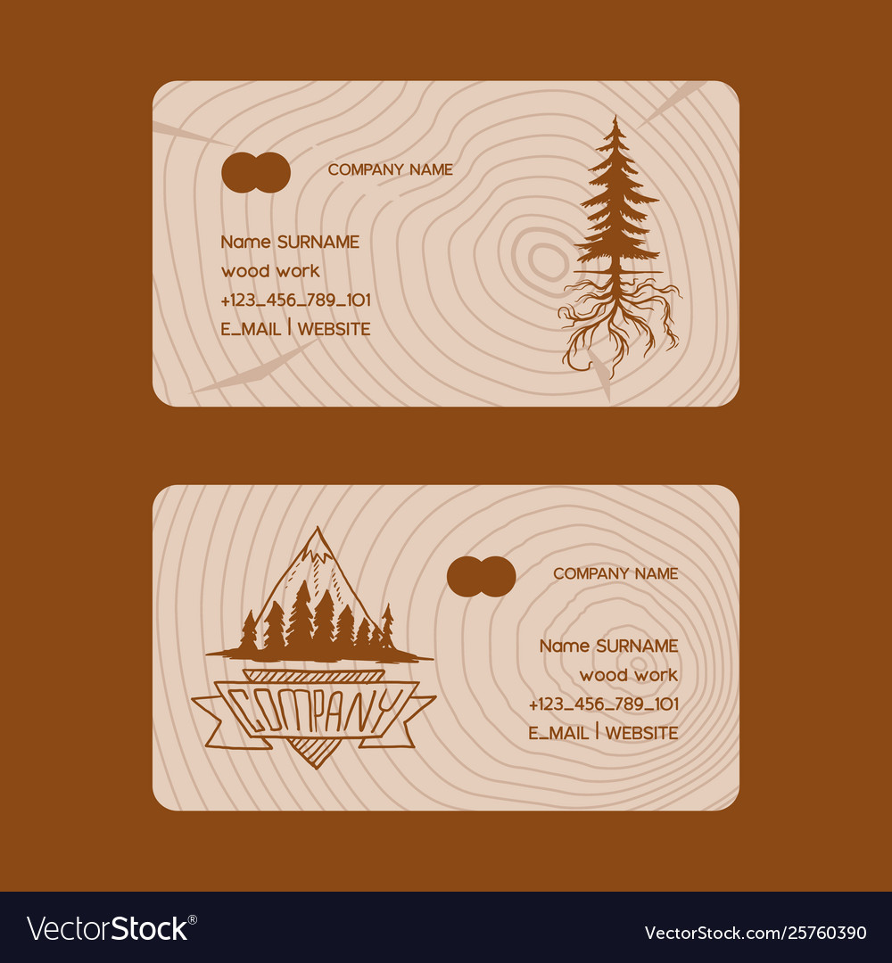 Forest pine tree business card badge