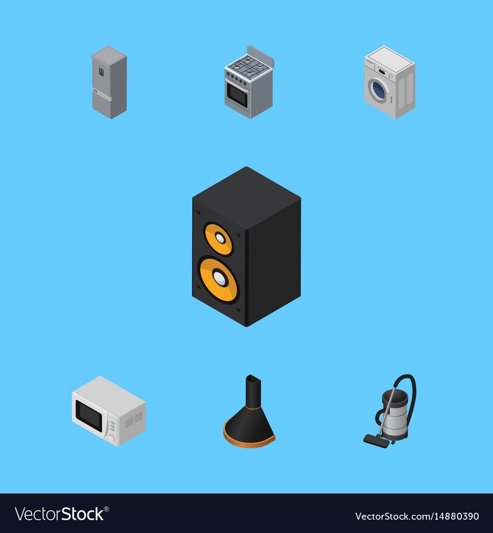 Isometric electronics set of microwave music box