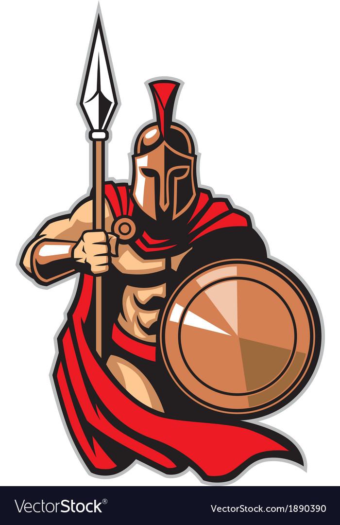 Spartan army vector image