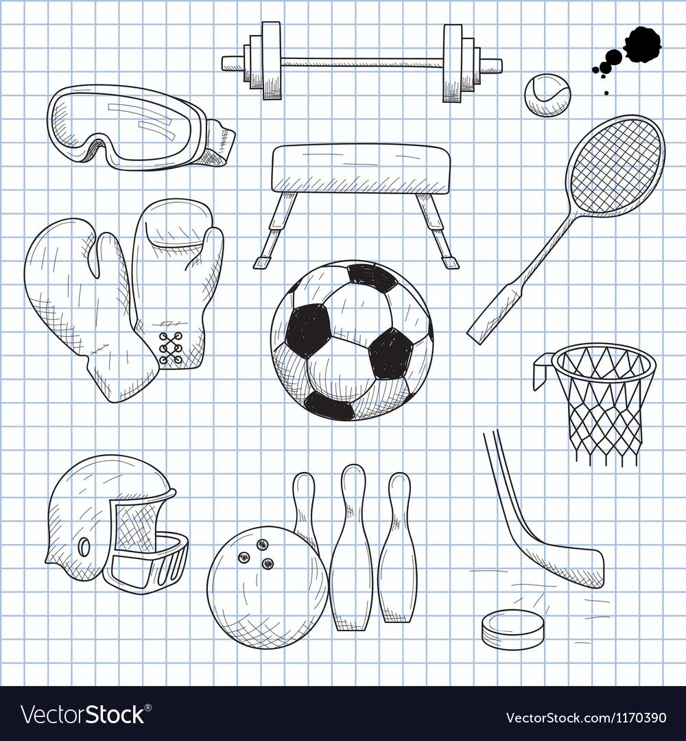 Спортинвентарь картинки нарисованные