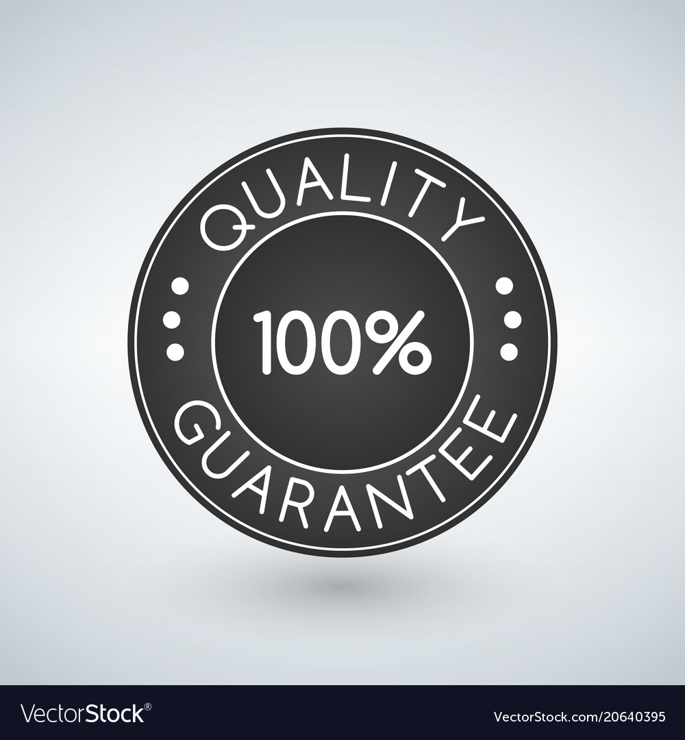 100 quality guarantee sticker or label