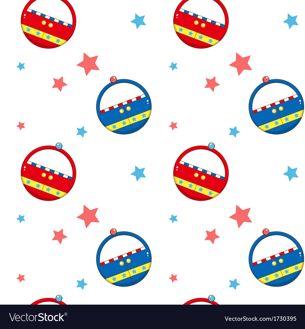 A seamless design with ferris wheel cars and stars