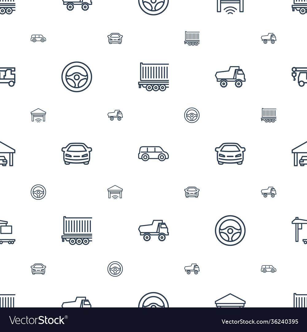 Auto icons pattern seamless white background