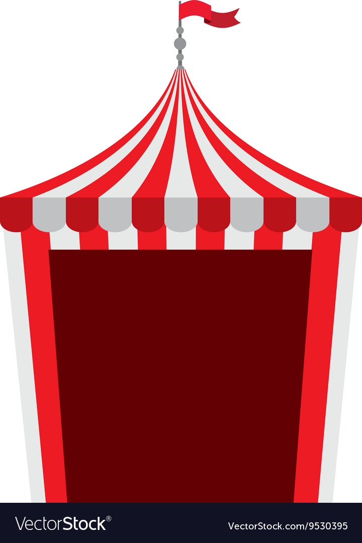 Circus tent isolated icon design