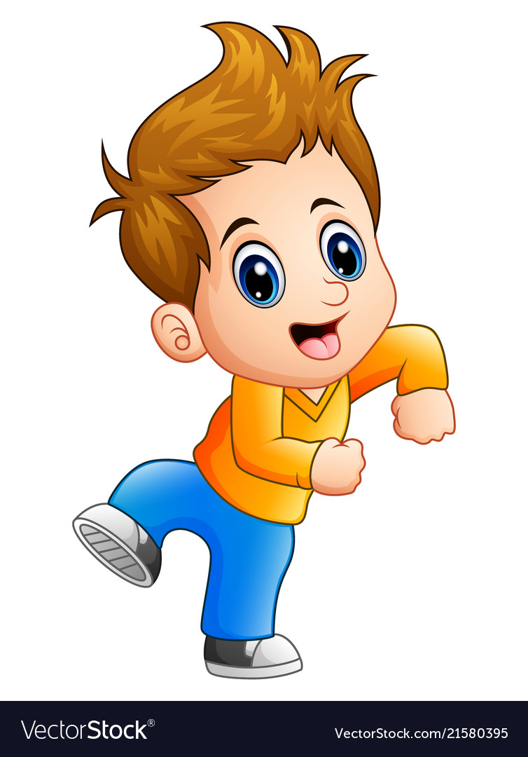 Cute Boy Cartoon Posing Royalty Free Vector Image