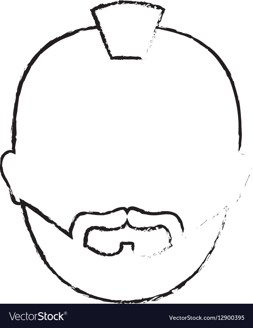 Figure criminal man face icon