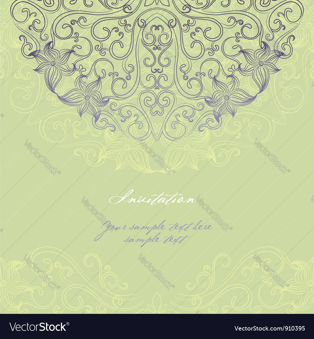 Invitation card 2 vector image