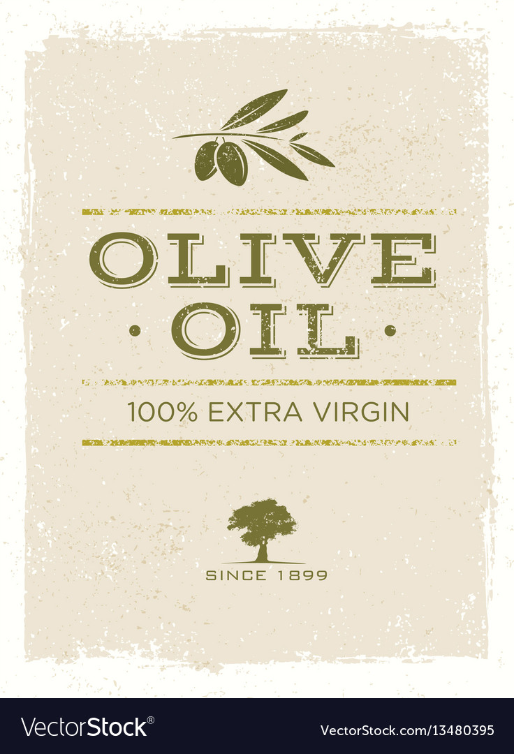 Organic olive oil rough on