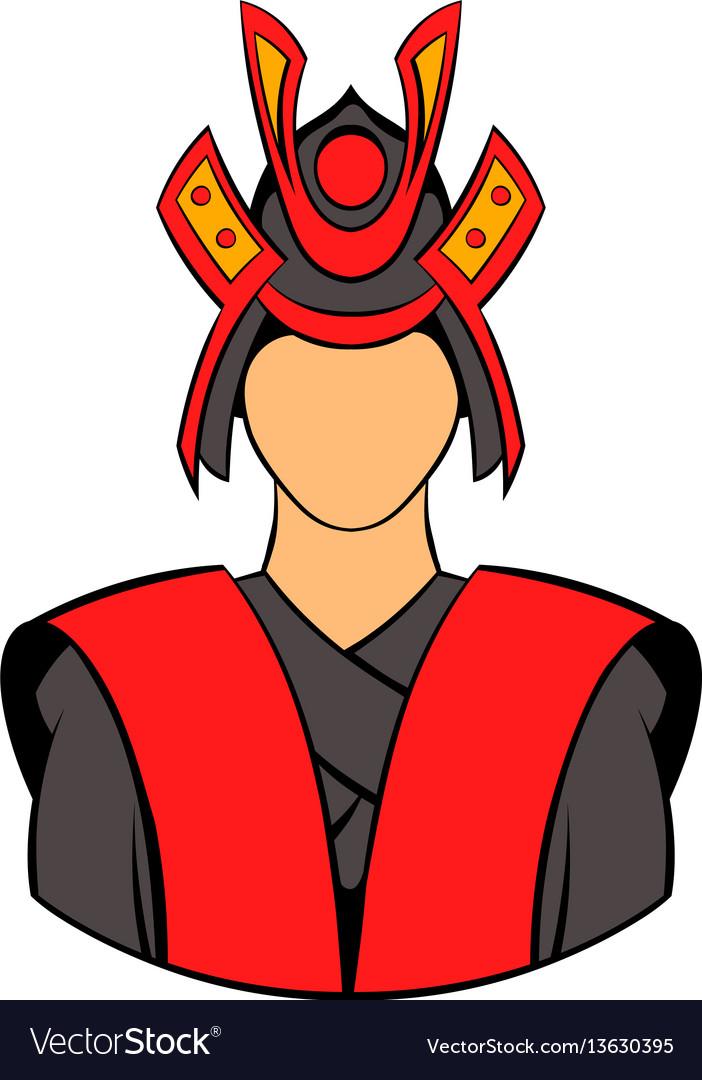 Samurai icon cartoon