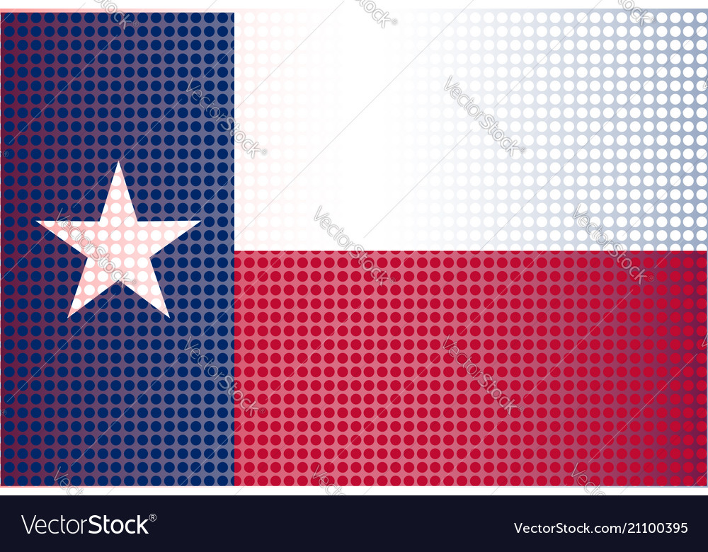 Texas state doted flag