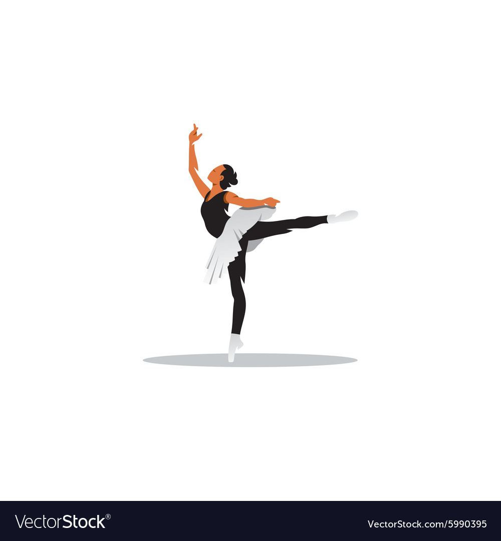 Young beautiful ballet dancer posing on a studio vector image