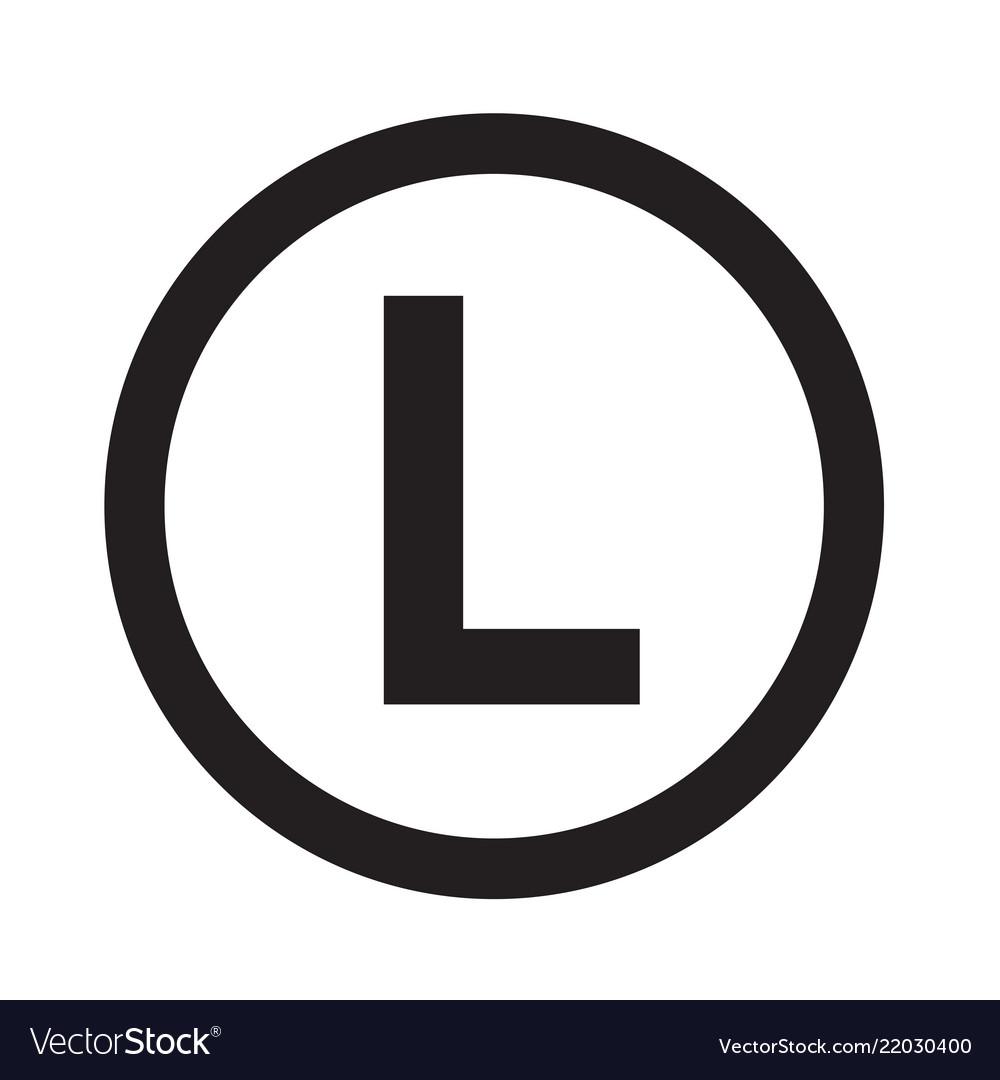 Basic font letter l icon design