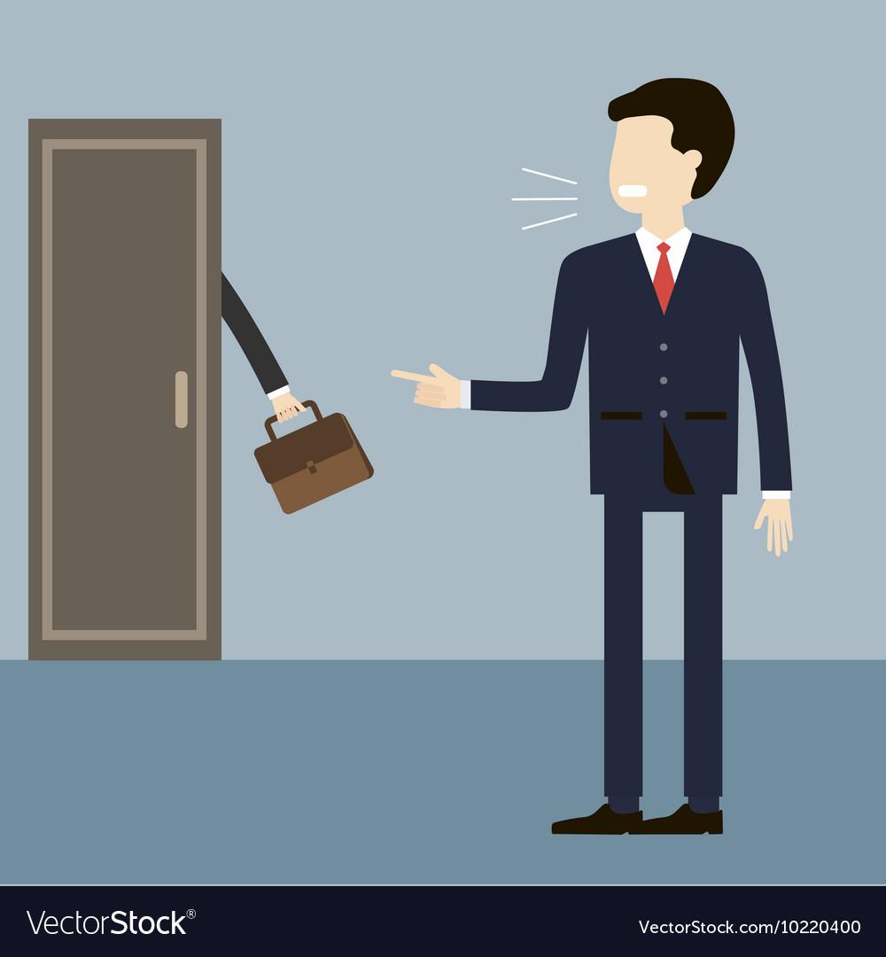 boss dismissal employee royalty free vector image