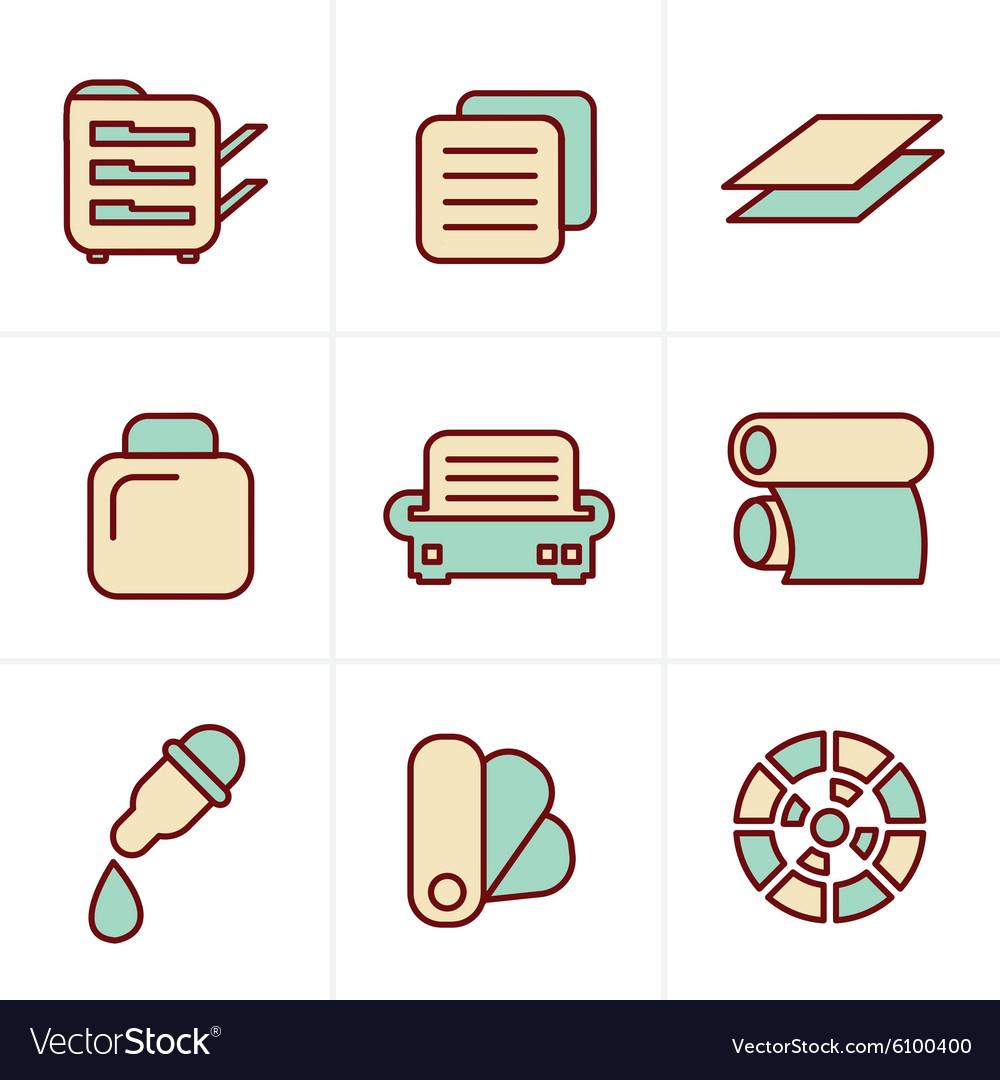Icons Style Icons Style Print icons set elegant se