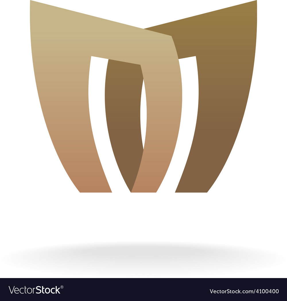 Letter M logo template Architecture building vector image