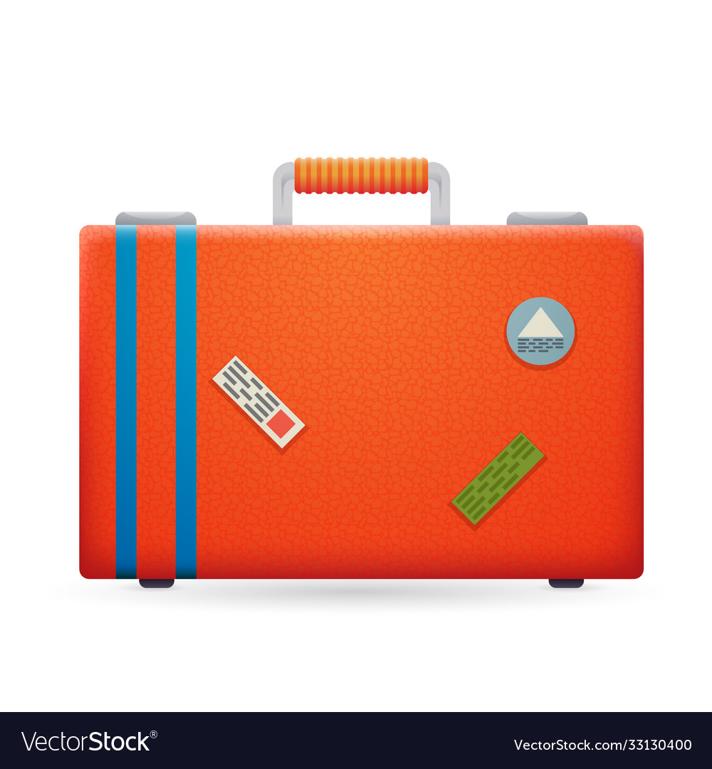 Summer vacation trip traveler suitcase bag icon