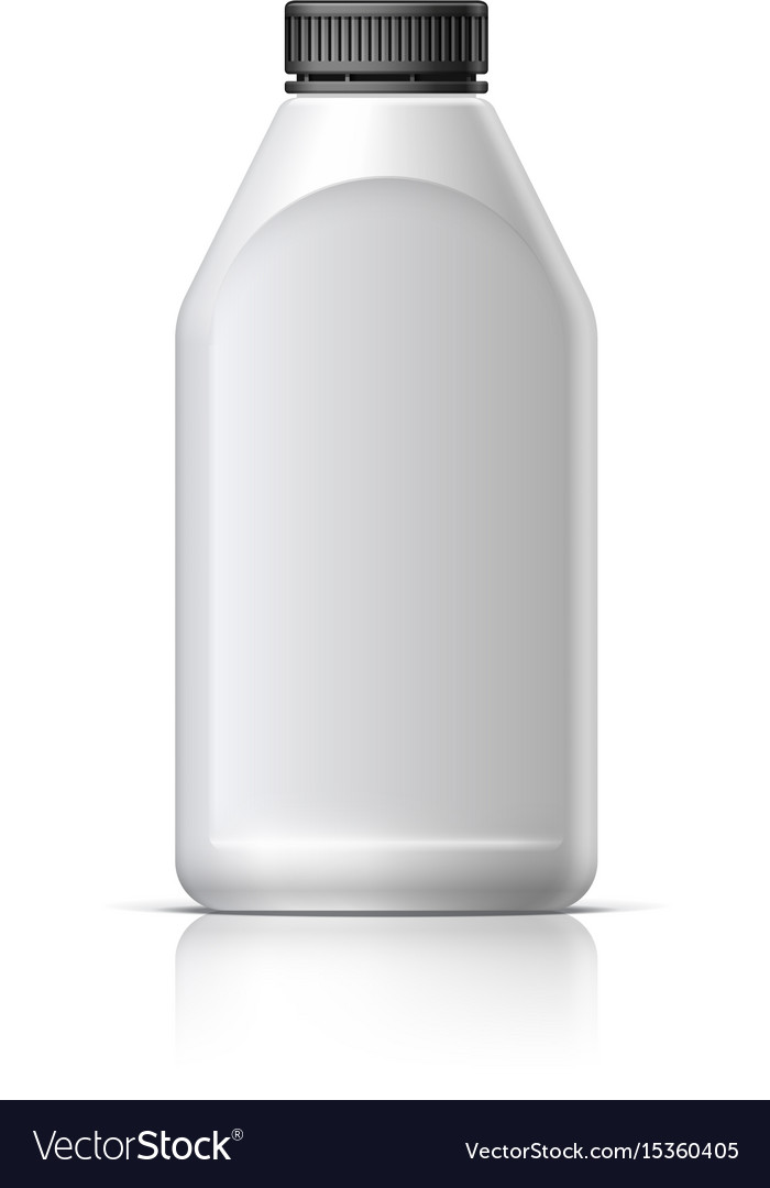 Blank bottle realistic on white background