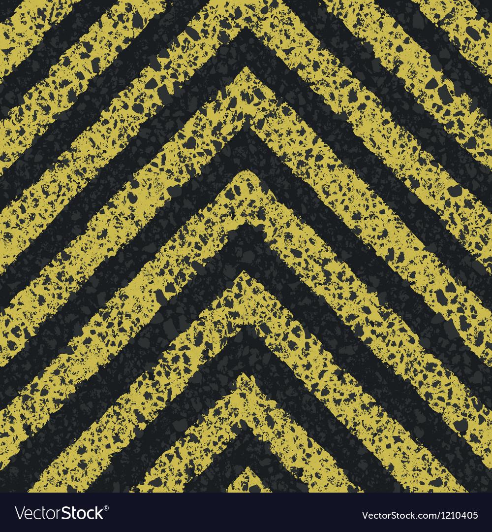 Danger arrows on asphalt texture EPS8
