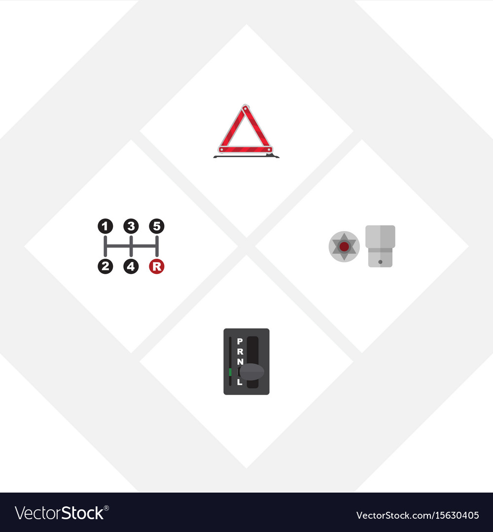 Flat icon service set of turnscrew warning