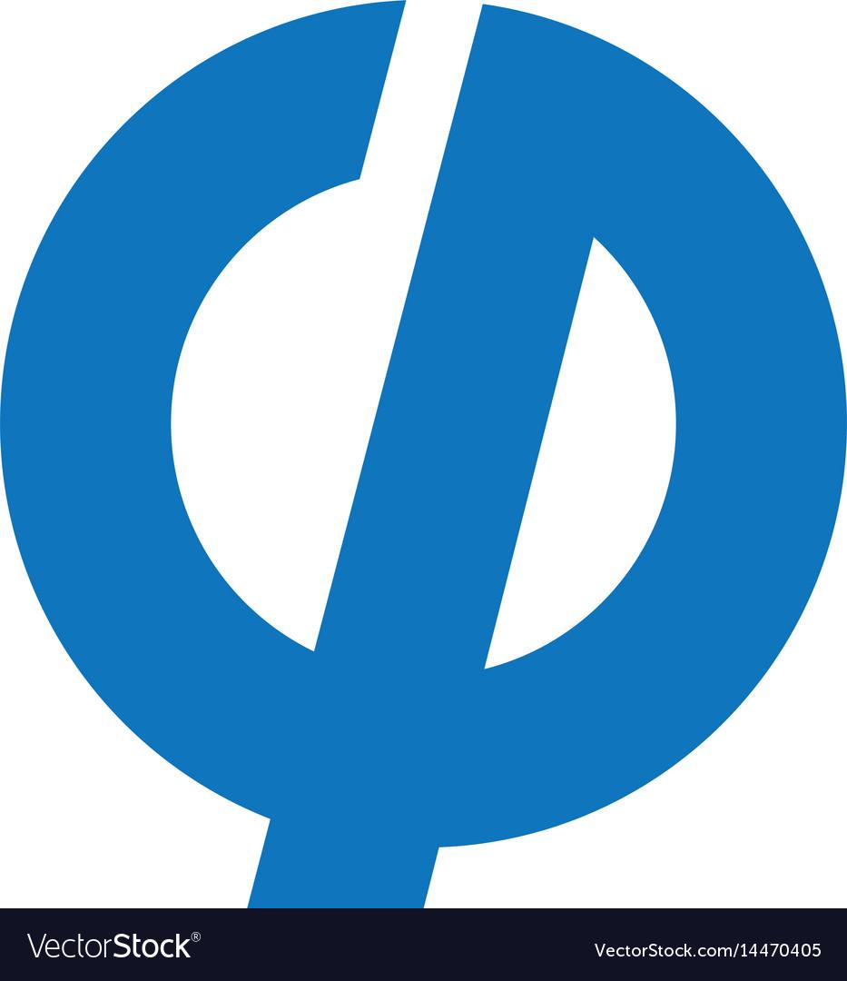 Gp business or technology letter logo design